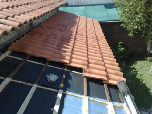 Techista juarez e hijos techos de tejas y chapas for Tejas livianas para techos