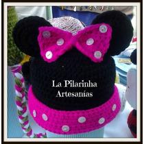 Gorros Tejidos Mickey / Minnie / Kitty / Winnie Pooh