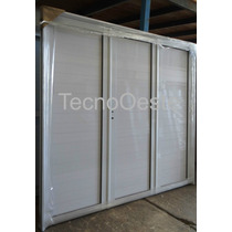 Porton Garage Aluminio Blanco Ciego Reforzado 240x200 Puerta