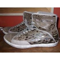 Zapatillas Botitas Zara Cuero