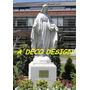 Virgen Milagrosa 1.30 Cemento Blanco Y Marmolina Estatua