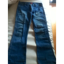 Jean En Color Azul By Deep. Talle 30. Impecable