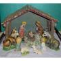 Navidad Pesebre Artesanal Retro 8 Piezas Cerámicas+niño Vea