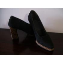 Zapatos Usados De Gamuza Negros