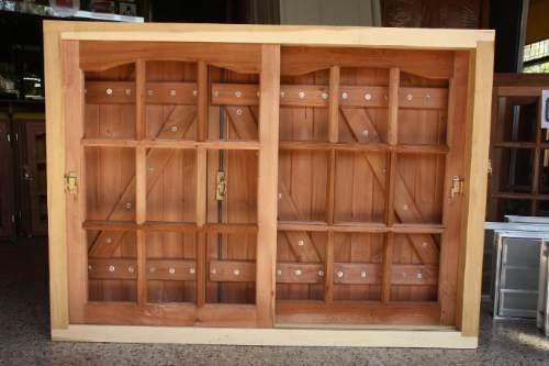 Ventana de madera con postigo bariloche 120x110 extra - Ventanas madera precios ...
