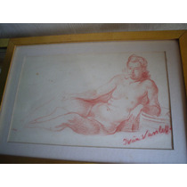 Ivan Vasileff Desnudo Dibujo Pintor Bulgaro 1889 - 1966