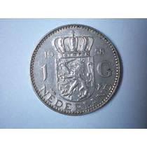 Moneda Holanda 1 Gulden De Plata Numismatica Coleccion