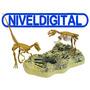 Esqueleto Dinosaurio Velocirraptors Triceratops Dos Colores