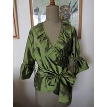 Camisa De Taftan Verde Seco Small - Fiestas - Casamientos