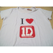 Remera De Modal Color Blanco Con Estampa One Direction