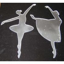 Set X 2 Espejos Adhesivos Bailarinas Nenas Guardas Souvenir