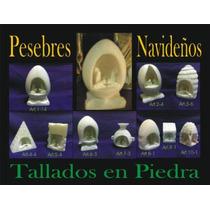 Pesebre Tallado En Piedra Para Colección Navidad