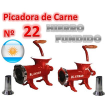 Maquina Picar Carne Nº 22 Manual Blay Bar Picadora Embutido