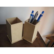 Portalapices Fibrofacil 6x6x9 Para Pintar 5 Unid