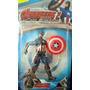 Muñeco Articulado Capitan America Avengers C/ Luz 16 Cm.