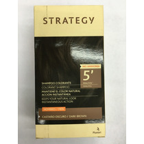 Strategy Castaño Oscuro Shampoo Colorante Hombres Tapa Canas