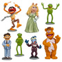 Muppets Disney Playset 7 Piezas Kermit Piggy Adornos Torta