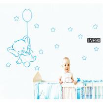 Vinilos Decorativos Infantiles Elefante Nene Nena Bebe Deco