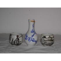 Florerito Y Dos Tacitas De Porcelana Oriental Sellados