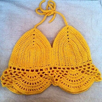 Top Crop Tejido Al Crochet - Oportunidad!!!!!!!