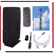 Kit Completo Tv Digital Tda Antena Panel Decodificador Gtia