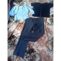 Combo Pantalón Vestir + Saquito + Remera Sobrio Y Delicado!!