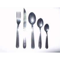 Docena Tenedores + Cucharas + Cuchillos Acero Inoxidable