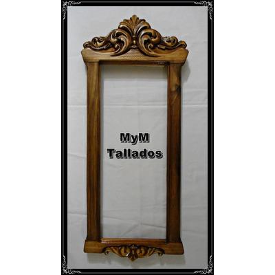 Marco espejo estilo barroco dise o unico mym tallados for Disenos de marcos de madera para espejos