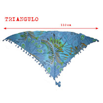 10 Triángulo Algodón Con Flecos Oferta Mayorista 110 Cm