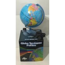 Globo Terraqueo 20cm Base Plastico Con Luz Gloter Xml 207lw