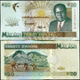 Malawi Billete De 20 Kwacha Año 1995 Sin Circular