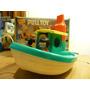 Antiguo Barco Con Ruedas,personajes,made U S A,silvato,nuevo
