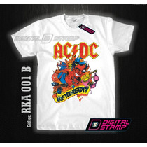 Remeras Ac Dc Rock Acdc 01 Are You Ready? Digital Stamp