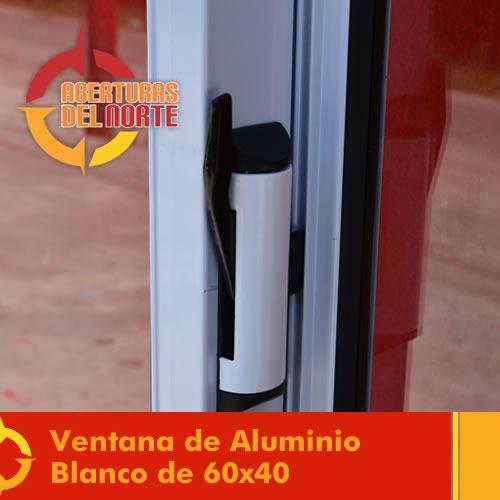 Ventana corrediza ventiluz vidrio 4mm blanco fabrica 60x40 for Aberturas de aluminio rosario precios