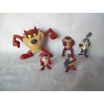 Lote De 5 Muñecos De El Demonio De Tazmania - Taz, Mc Donald
