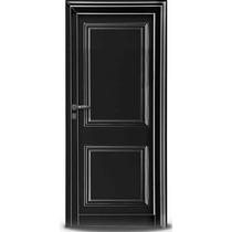 Puerta Oblak Exterior Aluminio Negra Pesada 80x200 Mod 2908
