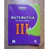 Matematica 3 - Editorial Santillana Practicas - Libros