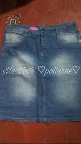 Pollera Para Cristiana De Jeans Elastizado 30b162e5b9b0