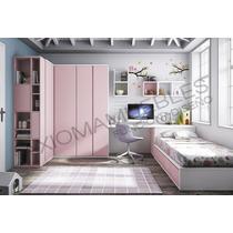 Dormitorio Juvenil Infantil Cama Placard Escritorio Axioma