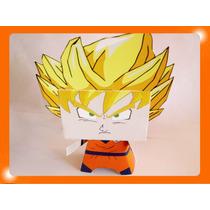 Cajitas Golosineras Goku Dragon Ball Z De Suspiros De Papel