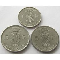 1 Franc 1951 Y 5 Francs 1949 (belgie & Belgique) De Belgica!