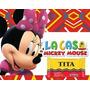 Kit Imprimible Candy Bar Minnie Mouse La Casa De Mickey