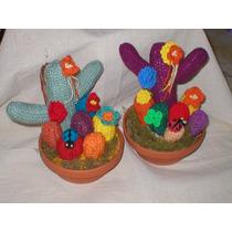 Cactus Tejidos Crochet Arreglo Feng Shui Cristal Encantado