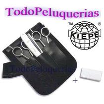 Kit Kiepe Tijera Corte + Pulir + Navaja + Portaherramient