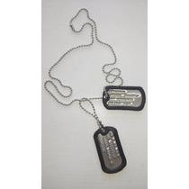 Chapas Identificatorias Militares