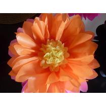Flores Pompones De Papel De Seda 45 Cm Miralos!!!