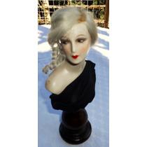Monijor62-antiguo Busto Muñeca Art Deco En Ceramica