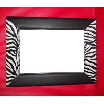 Espejo Decorativos Rectangular C/marco De Cuero Liso/estamp