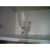 2 Copas De Vidrio Y Botellon Haciendo Juego Labrados