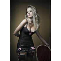 Babydoll Glamour Negro Talle 95 Sex Shop Hot Y Sensual